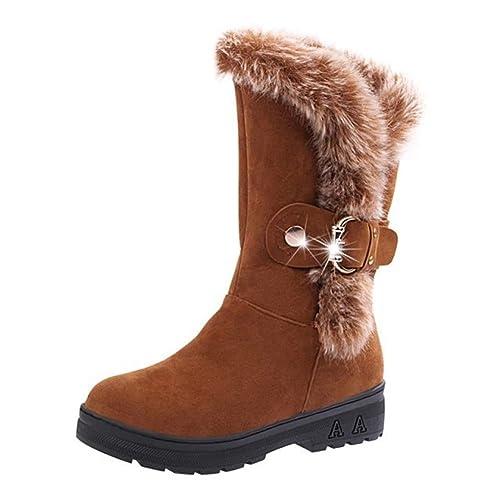 Botas de Nieve Mujer - Juleya Otoño Invierno Aire Libre Boots Fur Botines Calentar Zapatos Basic Botas: Amazon.es: Zapatos y complementos