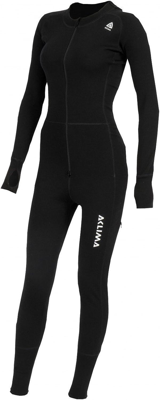 Aclima WarmWool Overall Damen Jet Black 2020 Unterw/äsche Set