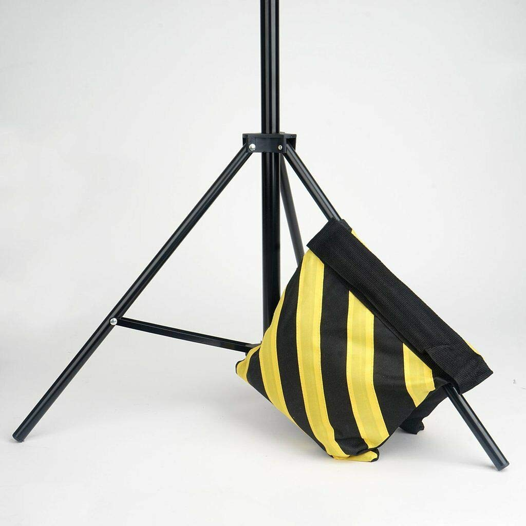 24 pcs Heavy Duty Sand Weight Saddle Bag for Photo Backdrops Wedding Party (Black and Yellow) by leilaniwholesale (Image #1)