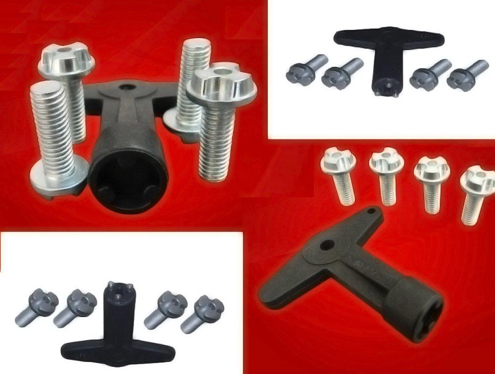 Llantas de aleación Centro Cap tornillos tornillos con clave: Amazon.es: Coche y moto