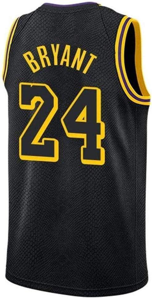 Gimnasio Chaleco Deportivo Top 24 Kobe Bryant Mesh Baloncesto Swingman Jersey Top para Hombres Lakers NO HANHJ Camiseta De Baloncesto De La NBA Masculina Camiseta Sin Mangas Unisex