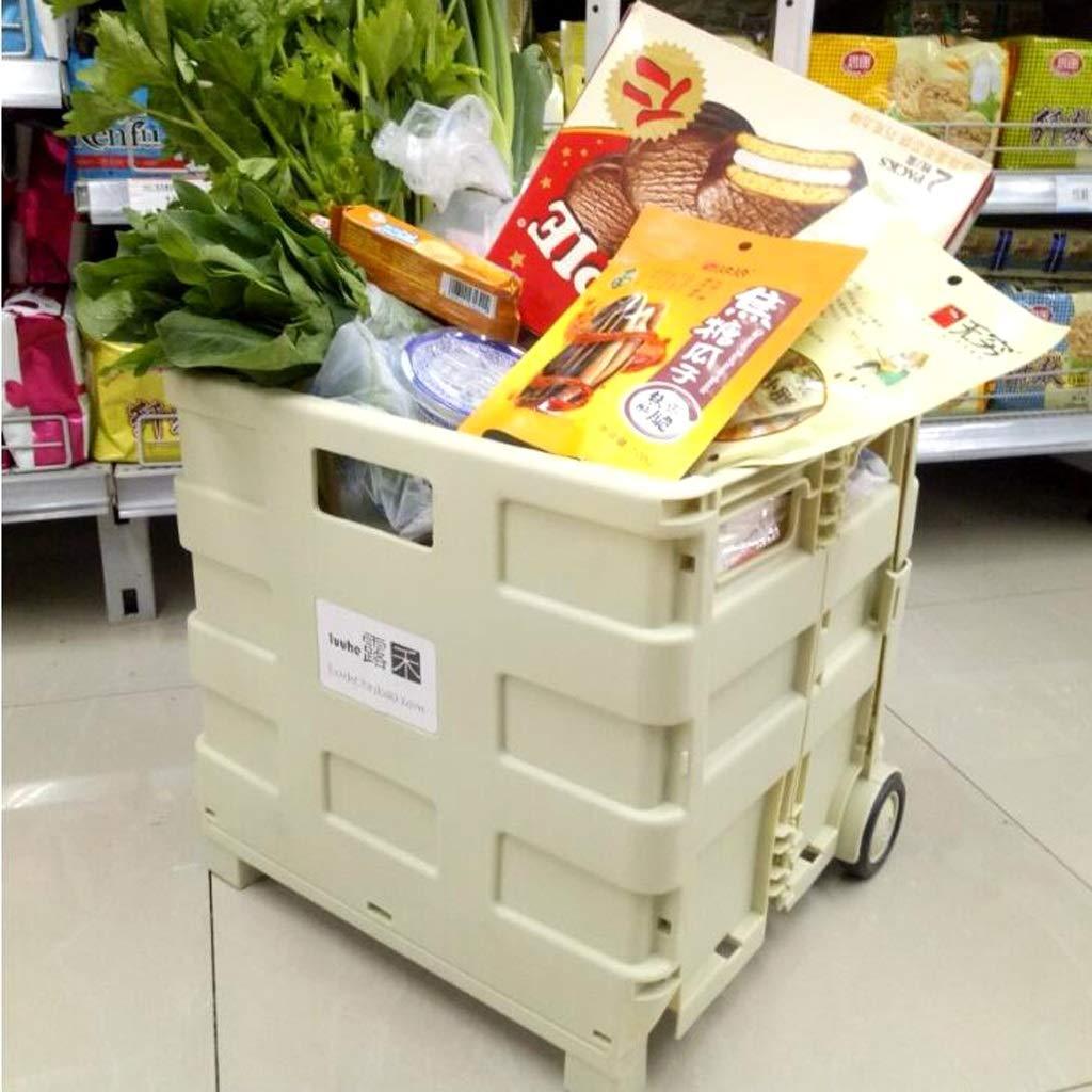Carritos de la compra Carro de Compras Carro pequeño, Carro portátil Plegable Carro de Compras del supermercado Carro de Compras Viejo Carro de supermercado ...