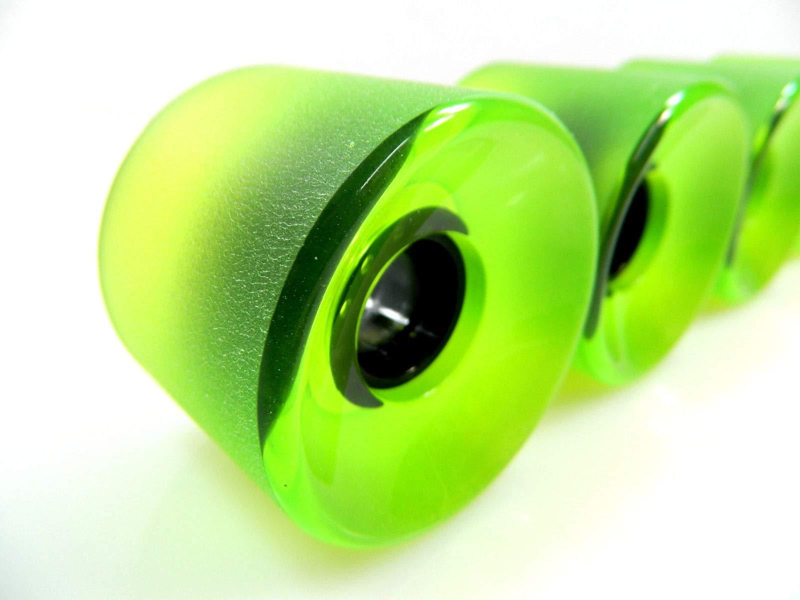 Good Skateboard Clear Blue (Matte Surface) Blank Pro 65Mm X 51Mm Longboard Cruiser Wheels Clear New Sealed