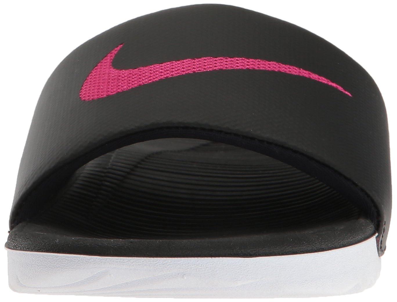 NIKE Damen Mehrfarbig WMNS Kawa Slide Sneakers, Mehrfarbig Damen (schwarz/Vivid Pink 001) 019107