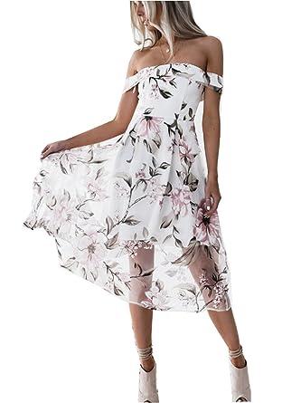 157b6815bc1d3 ASSKDAN 2018 Spring New Womens Elegant Off Shoulder Floral Printing Midi  Dress Ladies Summer High Waist