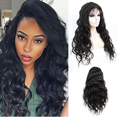 ntal Wigs Pre Plucked 180% Density Body Wave Brazilian Remy Human Hair Full Frontal Lace Wigs with Baby Hair For Black Women 16inch Natural Hairline ()
