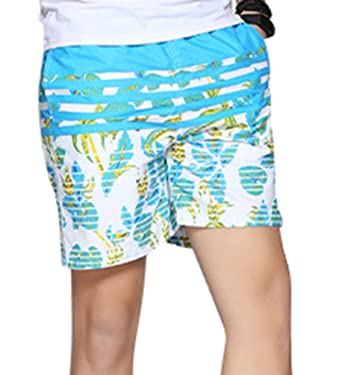 ac866392f8f YuanDian Men Summer Plus Size Casual Loose Fit Floral Printing Beach Shorts  Fashion Thin Soft Swim