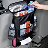 Bestdeal® Car Seat Organiser with Cool Insulated Cooler Bag, Map, Tissue, Drinks Holder - Keep Warm or Cold (Black)