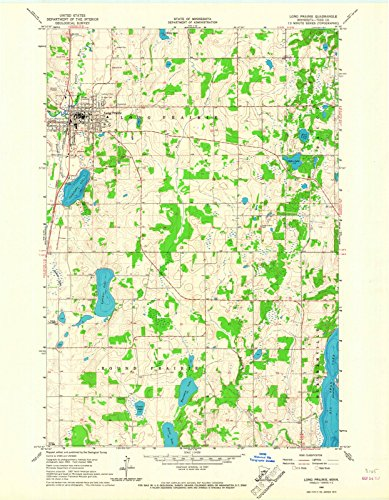 Minnesota Maps | 1966 Long Prairie, MN USGS Historical Topographic Map |Fine Art Cartography Reproduction Print