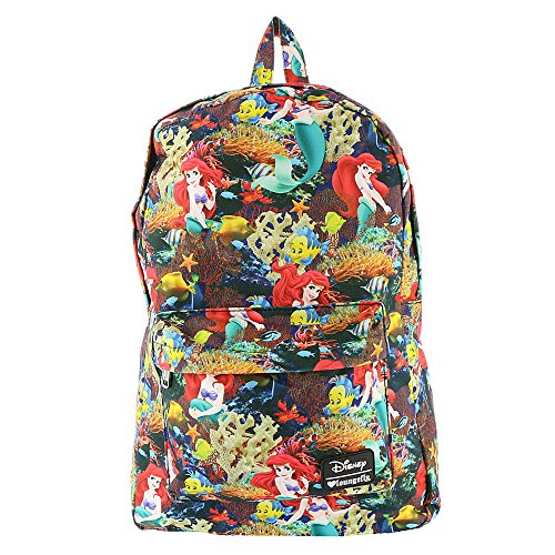 Loungefly Little Mermaid Ariel Floral Backpack (Black/Multi) WDBK0123