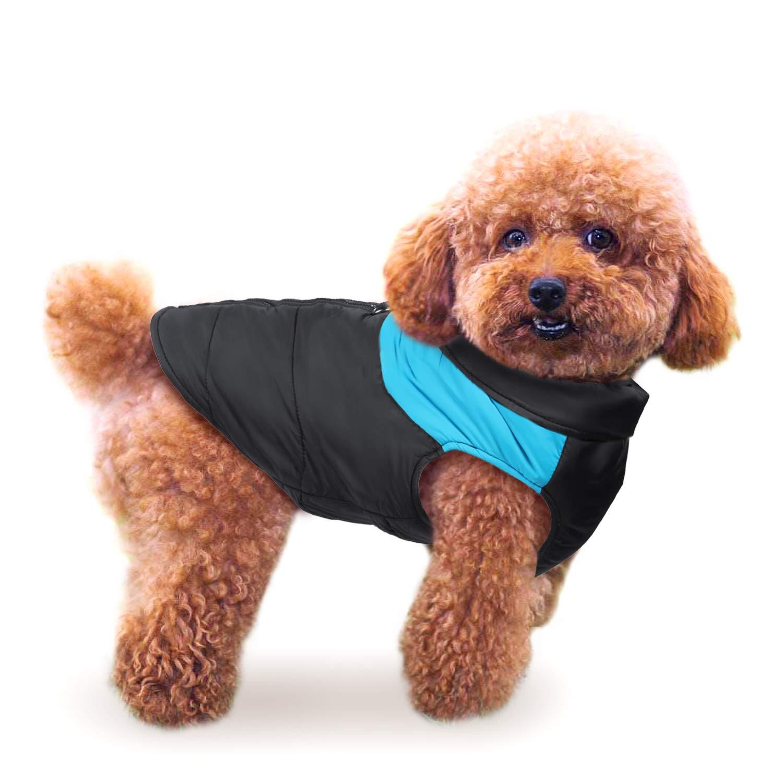IREENUO Pet Dog Vêtements Imperméable Veste Chaude D-Ring Chaud Rembourré Manteau Poitrine Protecteur Hiver Harnais Gilet Veste Chiot Vêtements Gilet De Ski Petit Moyen Grand Chiens(Rose, 2XL)