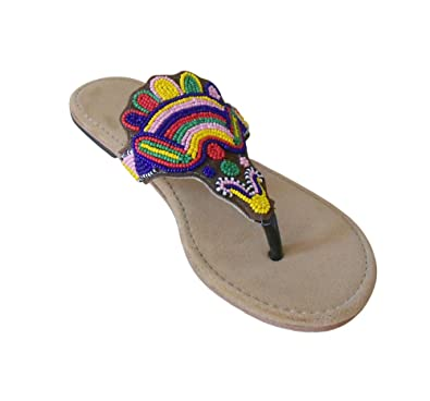 113861e3f7f4 Kalra Creations Women s Traditional Indian Shoes Brown Velvet Ethnic Flats  ...