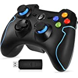 EasySMX Wireless Controller da Gioco, ESM-9013 2.4G Joystick Dual Turbo a Vibrazione per PS3 / Tablet/Tablet PC Android (Nero-Blu)