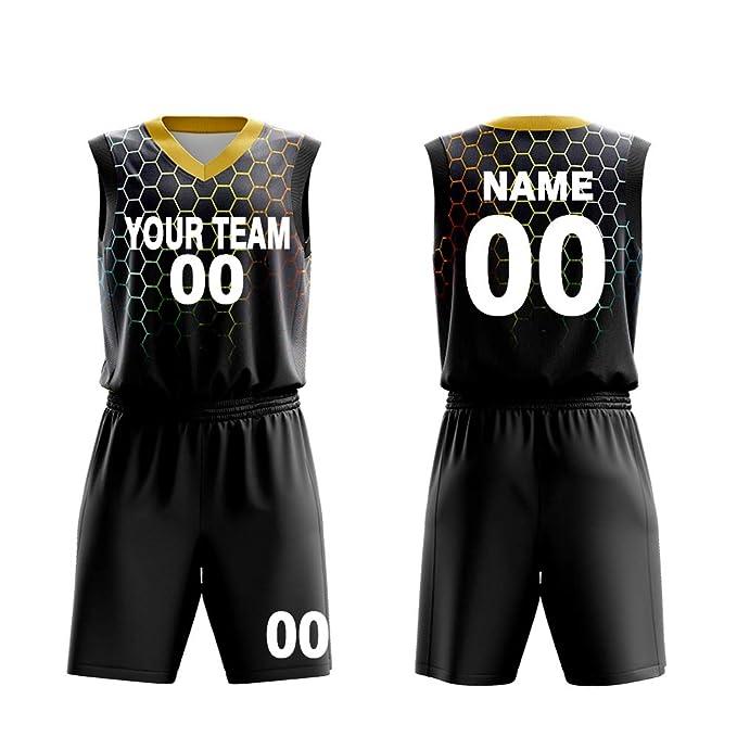 huge discount 17ad1 2340b Custom Basketball Jerseys Set for Men Sportswear- Make Team Uniform Print  Team Name,Number and Your Name.