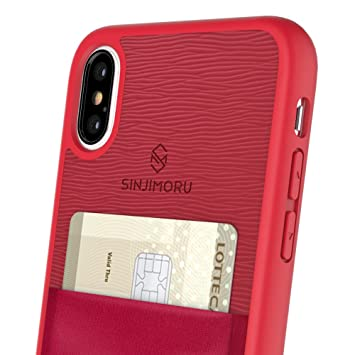 Sinjimoru Funda iPhoneX con Soporte para Tarjeta, Funda para Tarjeta iPhone X o Funda con Monedero para iPhone X con Billetera para Tarjeta. Estuche ...