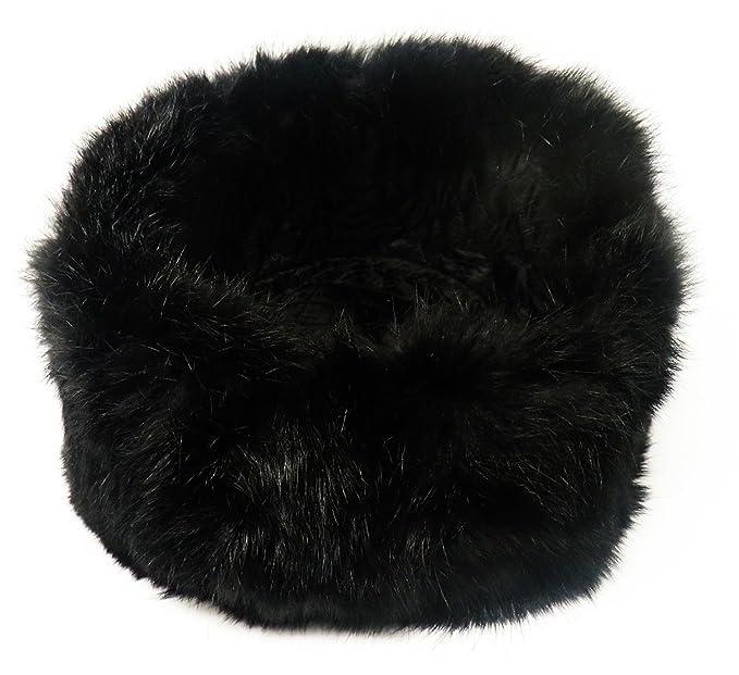 COLBACCO NERO IN PELLICCIA DI CONIGLIO - RUSSO ORIGINALE USHANKA - Taglia  disponibile  58-59 (SIZE L)  Amazon.it  Abbigliamento 3e7242c9b5b3