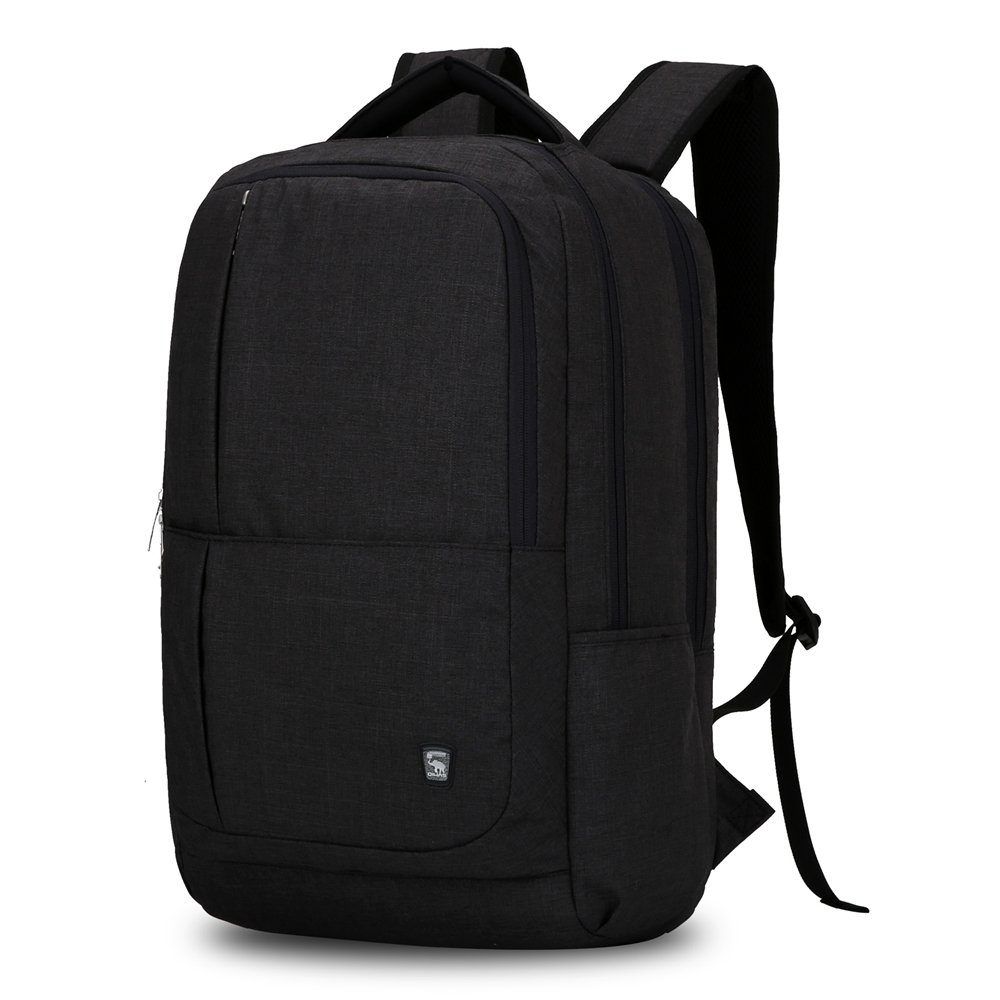 Oiwas Nylon Business Backpack with Large Full Separate Mult-compartment for 17 Inch Laptop Notebook Black