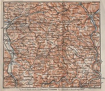 spessarts topo-map. ASCHAFFENBURG LOHR AM MAIN zertheim ...