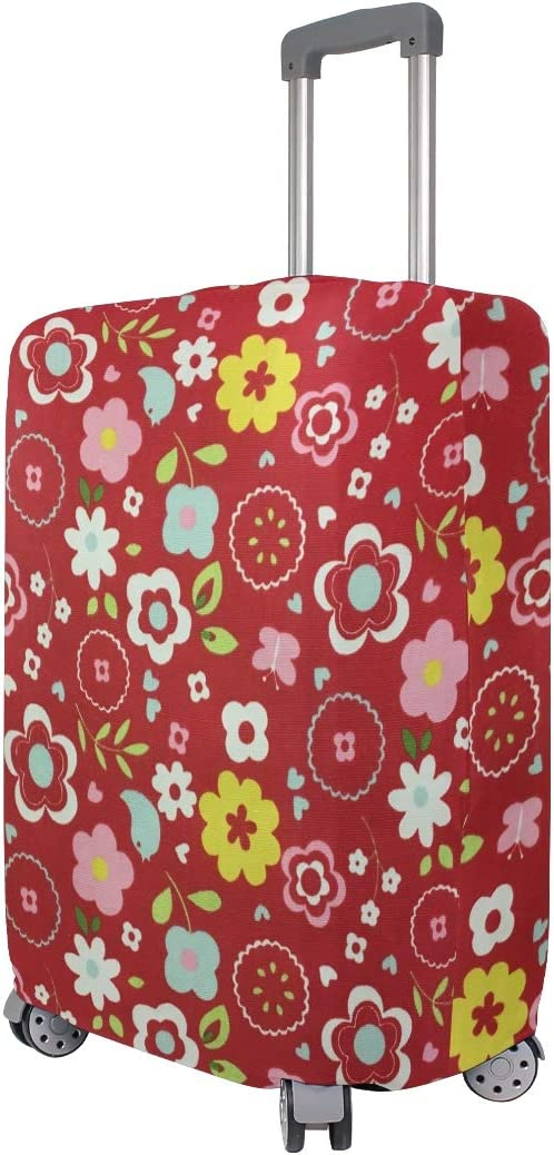 Jacksome Vintage Printed Flower Pattern Luggage Cover Travel Accessories Suitcase Cover For Most Suitcase Size XL 29-32 inch Fit 18 to 32