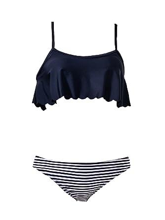 4826236024561 Amazon.com  American Trends Falbala Ruffled Top Swimsuits For Women High  Waisted Bikini Bottom Padded Strap Swimwear  Clothing