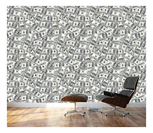 100 Dollar Bills Collage Background Large Money Wall Mural Removable Peel And Stick Wallpaper