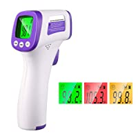 Thermometer for Adults Forehead Thermometer Non-Contact Infrared Thermometer No Touch Digital Baby Thermometer for Adults and Kids(No Batteries)