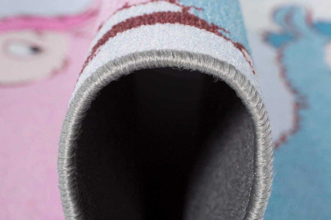 NICI Tapis de Jeu pour Enfant Lama Lamina Bleu 100 x 165 cm