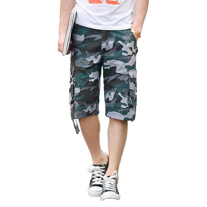 9dfc9d463870f Xinwcang Hombre Cortos Pantalones Cargo de Camuflaje Casual Suelto Bermudas  Shorts Outdoor Deporte  Amazon.es  Ropa y accesorios