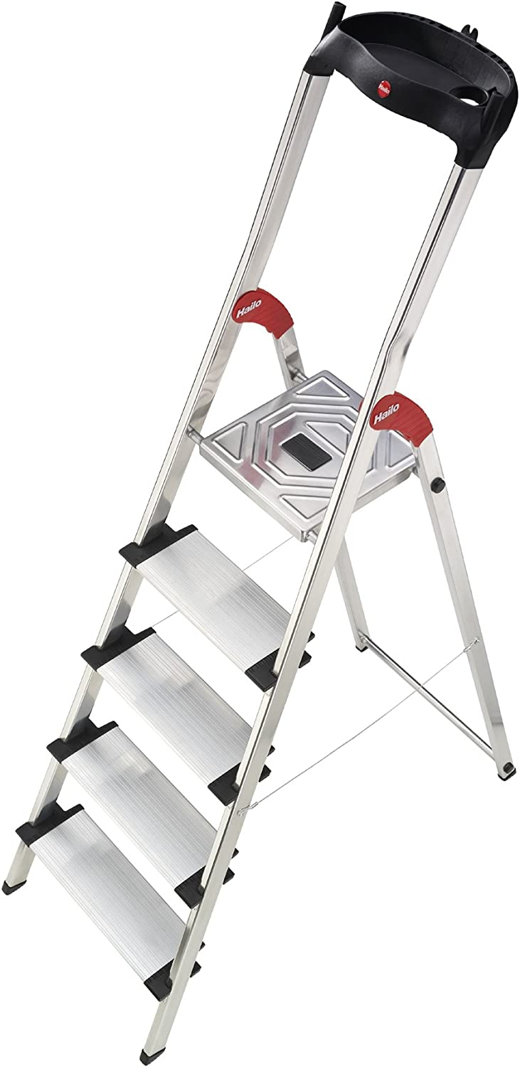 Hailo 8815-001 - Escalera plegable de aluminio (5 escalones): Amazon.es: Hogar
