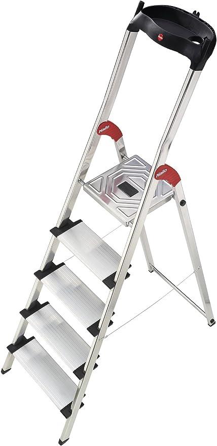 Hailo 8815-001 - Escalera plegable de aluminio (5 escalones): Amazon.es: Hogar