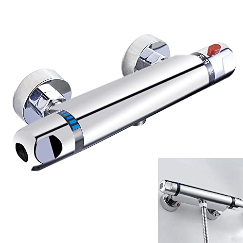 everso Chrome Thermostatic Bar Shower Mixer Valve Anti Scald Tap 10 Years Quality Warranty