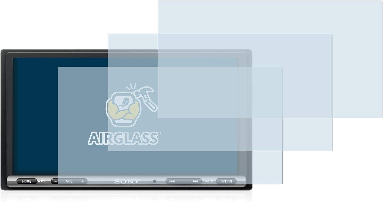 Schermo Protezione Durezza 9H 3 Pezzi brotect Pellicola Protettiva Vetro Compatibile con Sony XAV-AX3005DB AirGlass Anti-Impronte