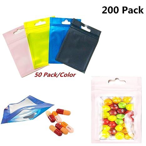 Amazon.com: Xinhongo 200 bolsas de Mylar resellables, a ...