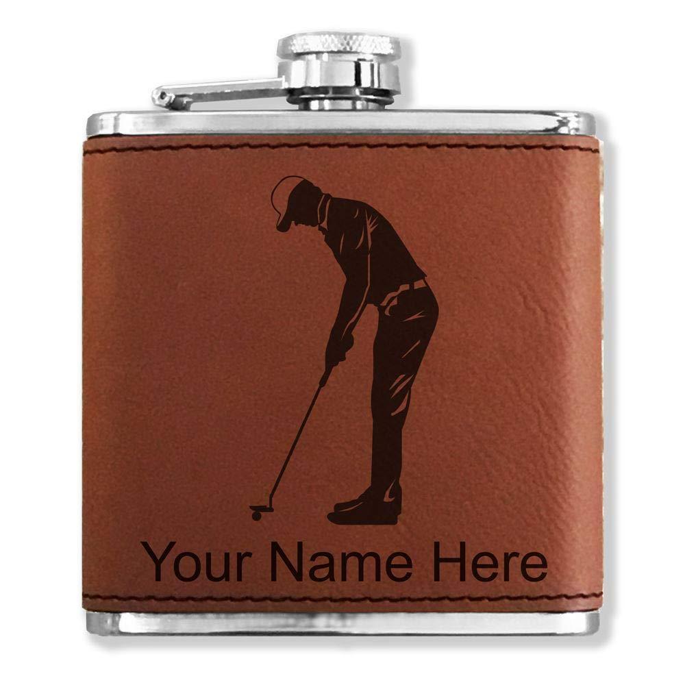 優先配送 フェイクレザーフラスコ Golfer – Golfer B013L7X97Y – Putting – カスタマイズ彫刻Included (ダークブラウン) B013L7X97Y, コウナンマチ:a6ca5462 --- beutycity.com