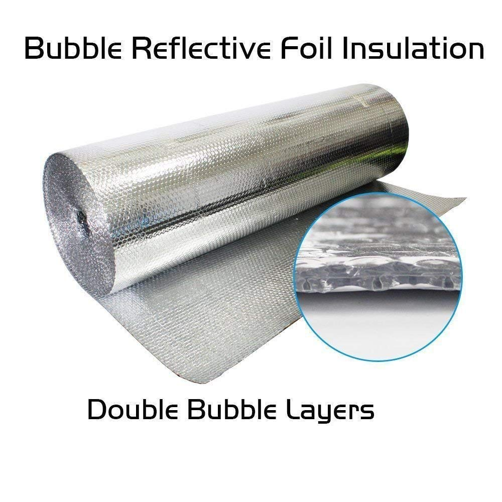 500sqft (4ft by 125ft) US Energy Products (XTEMP) DOUBLE Bubble Reflective Aluminum Insulation Roll Solid Commercial Residential Insulation Vapor Barrier (Houses Buildings Barns Vehicles etc) by US Energy Products