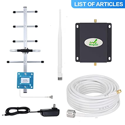 Cell Signal Booster Repeater Mingcoll ATT 2G 3G Cell Phone Signal Booster 850MHz Band 5 Mobile