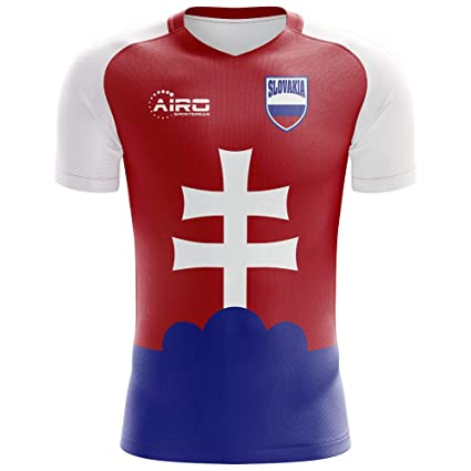 536cec2b7 Image Unavailable. Image not available for. Color: Airo Sportswear 2018-2019  Slovakia Home Concept Football Soccer T-Shirt Jersey