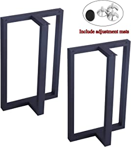 "MBQQ Furniture Legs 28""Height 17.5""Wide Rustic Decory T Shape Table Legs,Heavy Duty Metal Desk Legs,Dining Table Legs,Industrial Modern, DIY Cast Iron Bench Legs"