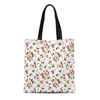 cac3b7cde604 Amazon.com: Semtomn Canvas Tote Bag Shoulder Bags Beautiful Red Pink ...