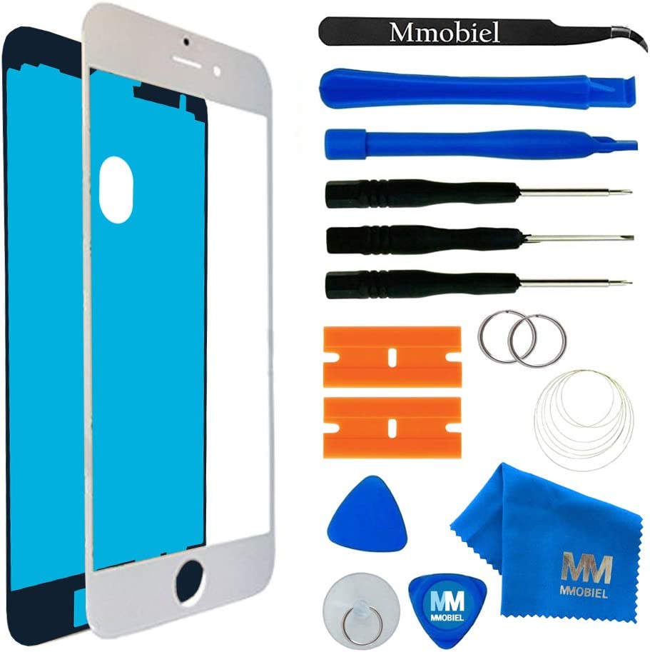 MMOBIEL Front Glass Replacement Compatible with iPhone 7 (White) Display Touchscreen incl Tool Kit