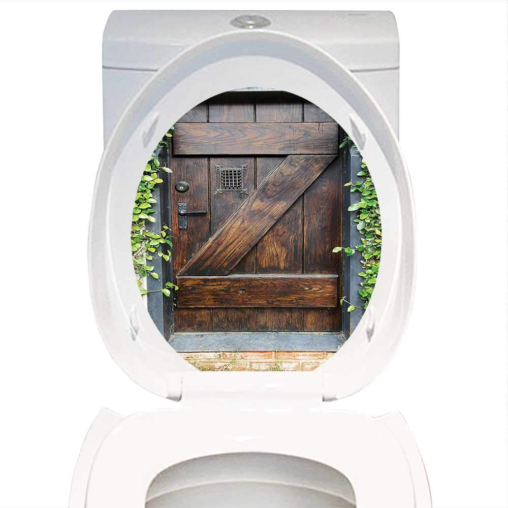Miraculous Amazon Com Qianhe Home Toilet Seat Sticker Rustic Decor Caraccident5 Cool Chair Designs And Ideas Caraccident5Info