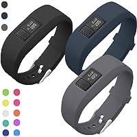 SKYLET Compatible with Garmin Vivofit 3 /JR/JR.2 Bands, Soft Silicone Bands Compatible with Vivofit 3/JR/JR.2 Accessories Bracelet with Secure Watch Buckle Kids Women Men