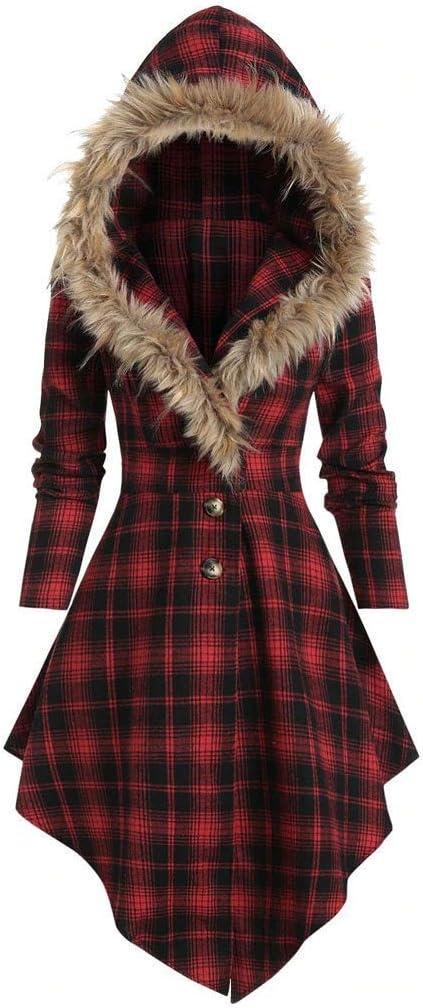 YANG  최고 겨울 따뜻한 코트 패션 무늬 스웨터 봉 후드 블라우스 버튼을 보내다 비대칭 긴상의 재킷 재킷
