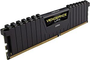Corsair Vengeance LPX 32GB (4x8GB) DDR4 3600 (PC4-28800) C18 1.35V Desktop Memory - Black