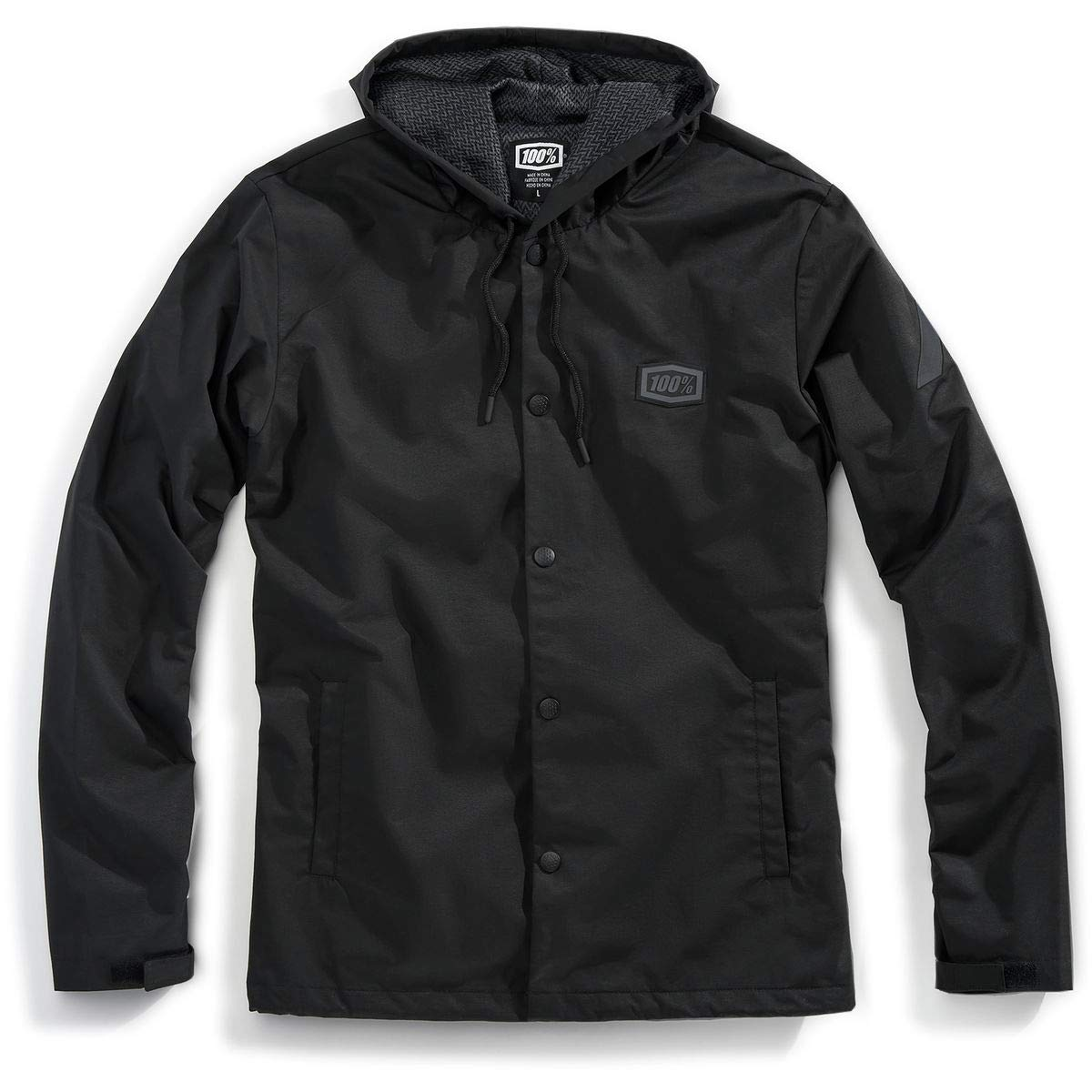 100% Apache フード付きスナップジャケット M ブラック