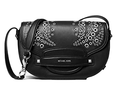 d260f5b6721c Image Unavailable. Image not available for. Color: MICHAEL Michael Kors  Cary Medium Grommeted Leather Saddle ...