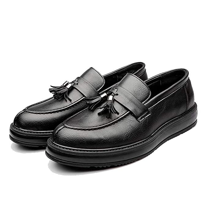 RegbKing Mocasines De Borla De Cuero Pulido Para Mujer Vintage Zapatos Retro Deslizamiento Mocasines Zapatos De Conducción Zapatos De Barco,Black-44: ...