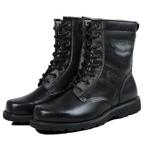 Vdason Zapatos Militares de caña Alta para Hombre Botines de ...