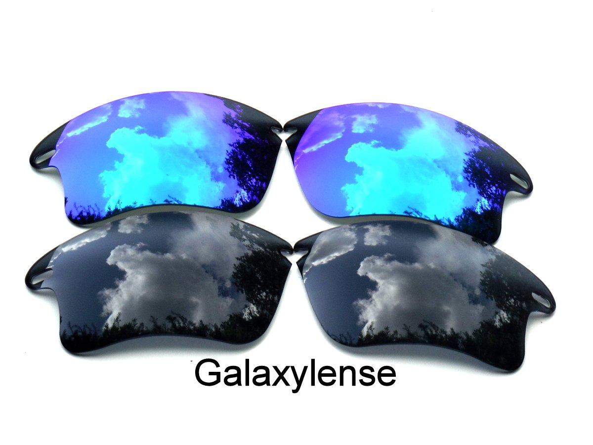 Galaxy Replacement Lenses for Oakley Fast Jacket XL Black&Blue Color Polarized 2 Pairs,FREE S&H.
