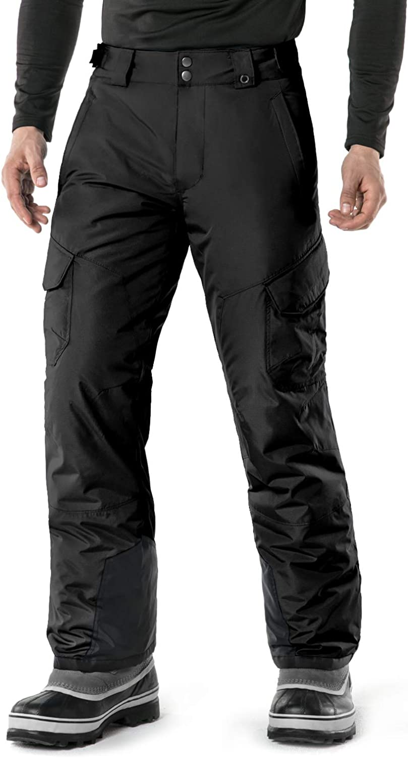 TSLA Men's Snow Pants Windproof Ski Insulated Water-Repel Rip-Stop Bottoms